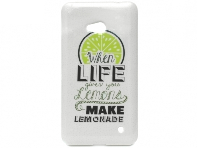 СИЛИКОНОВ ПРОТЕКТОР ЗА MICROSOFT LUMIA 640 LTE RM-1109 RM-1077 When Life Given YOU Lemons Make Lemonade