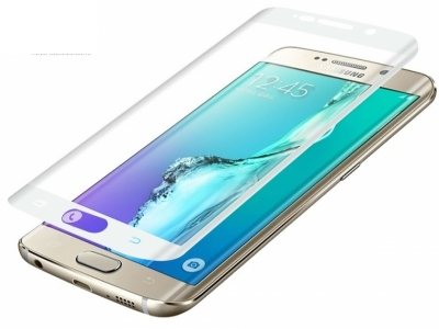 ИЗВИТ СКРИЙН ПРОТЕКТОР С РАМКА  CURVED ЗА SAMSUNG GALAXY S6 EDGE PLUS 2015 SM-G928, Бял