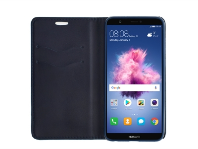 Калъф Тефтер Magnetic BOOK за Huawei P Smart / Enjoy 7s, Син