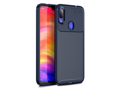 Силиконов гръб Beetle Carbon за Xiaomi Redmi Note 7, Син