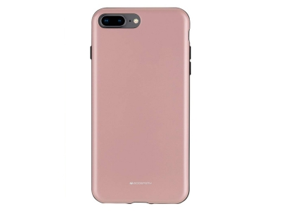 Удароустойчив Гръб Mercury SKINNY за iPhone 7 Plus / 8 Plus, Розов/ Златист