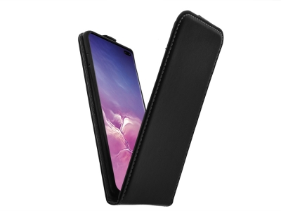 Калъф Тефтер Slim Flexy за Samsung Galaxy S10 Plus (G975), Черен