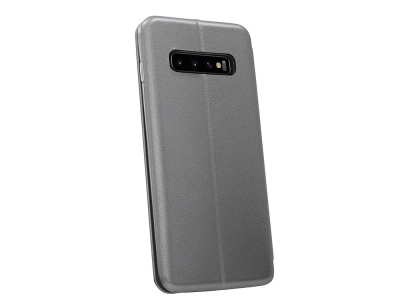 Калъф Тефтер ELEGANCE за Samsung Galaxy S10 Plus, Сив