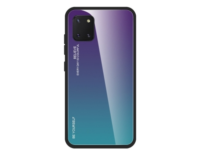 Стъклен Гръб Glass за Samsung Galaxy A81 / Note 10 lite, Ливав /Син