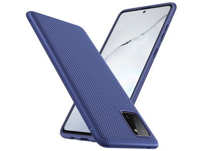 Силиконов Гръб Twill Texture за Samsung Galaxy A81/Note 10 Lite/M60S, Син