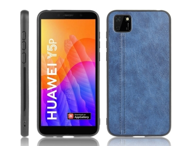 Удароустойчив гръб Leather Coated за Huawei Y5p/Honor 9S, Син