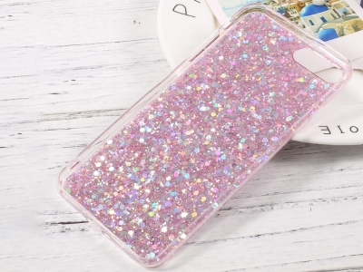 Силиконов Гръб Glitter за iPhone 7 Plus / iPhone 8 Plus, Розов