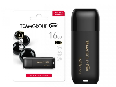 Флаш памет 16GB Flash TEAM C175 BLACK